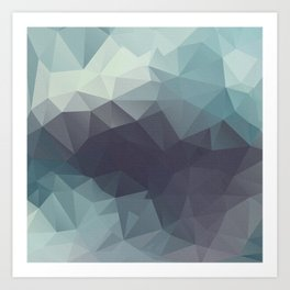 Polygon pattern . Triangles with a texture craquelure . 2 Art Print