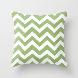 Olivine - green color - Zigzag Chevron Pattern Throw Pillow
