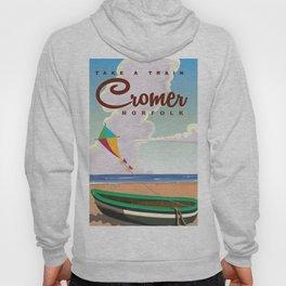 Cromer Vintage beach travel poster Hoody