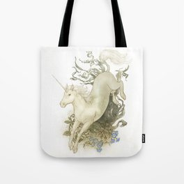 Unicorn and Silver Tote Bag