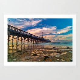 Northside Newport Pier Art Print