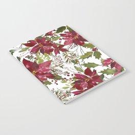 Poinsettia Flowers Notebook