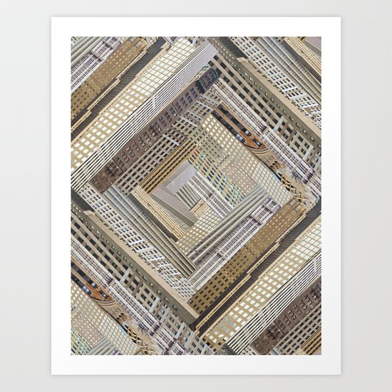 Skyscraper Quilt Art Print