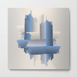 stone brick city Metal Print