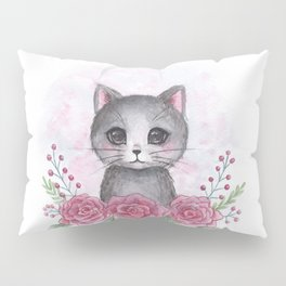 Rose kitty Pillow Sham