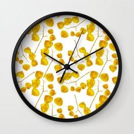 Gold Leaf Art Wall Clock