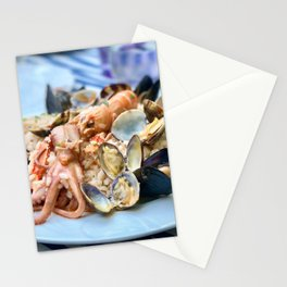 Seafood risotto Stationery Cards