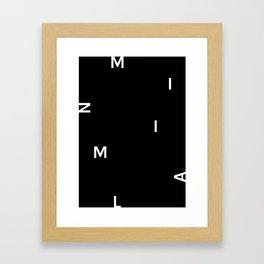 MINIMAL (Black) Framed Art Print