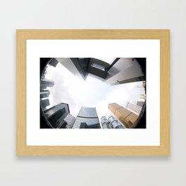 Looking up in Hong Kong (through a fisheye) Framed Art Print