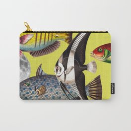 Fish World yellow Carry-All Pouch