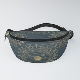 Instruments of Time Neck Gator Blue Vintage Timepieces Fanny Pack
