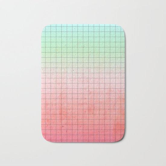Watermelon Geometry Bath Mat