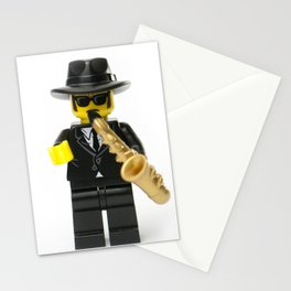 Jazz playing musician Minifig Stationery Cards