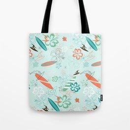 Surfs Up Blue Tote Bag