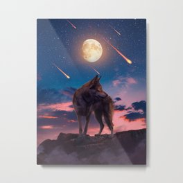 The Lone Wolf Metal Print