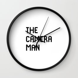 The Cameraman Filmmaking Movie Film School Wall Clock