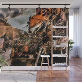 Good Morning Sarajevo Landscape Painting by Jeanpaul Ferro Wall Mural