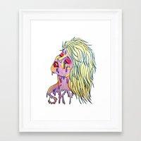 sky ferreira Framed Art Prints featuring Sky Ferreira by Montana