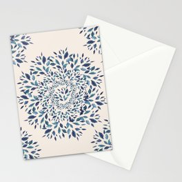 Indigo Leaves Mandala Stationery Cards
