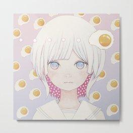 Silence egg-san Tamago fuyashitabaai Metal Print
