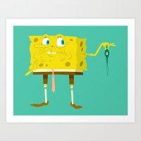 Spongeberk Art Print