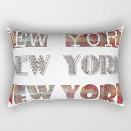 New York Typo Rectangular Pillow