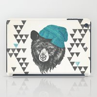 zissou iPad Cases featuring Zissou the bear in blue by Laura Graves