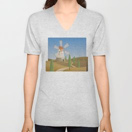 a quijote's glance Unisex V-Neck