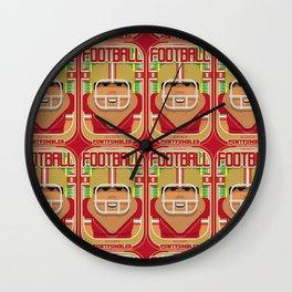 American Football Red and Gold - Enzone Puntfumbler - Seba version Wall Clock