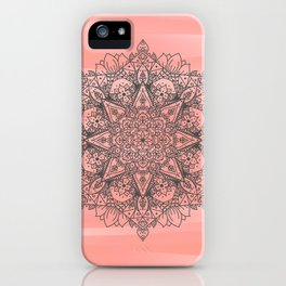 Coral Mandala iPhone Case