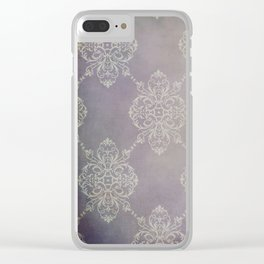 Vintage Damask - Violet Clear iPhone Case