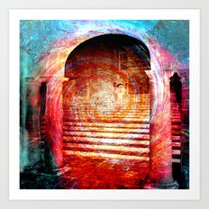 Architecture Digital Abstract Art Print