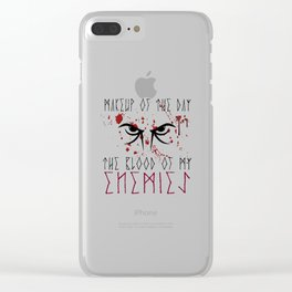 Makeup of the day: The blood of my enemies | Viking design Clear iPhone Case
