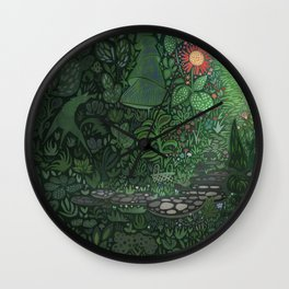 The Woods: Little Red Wall Clock