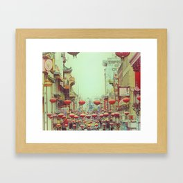Down with Chinatown Framed Art Print