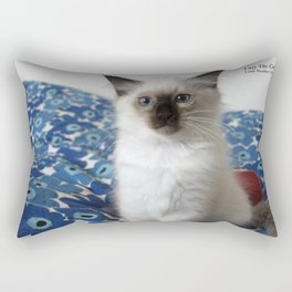 Lucy The Cat and Litle Brother  1 Rectangular Pillow