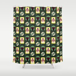 Green Mytho Bounty Hunter Shower Curtain