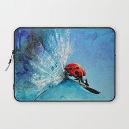 Flirt - Ladybug On Dandelion Laptop Sleeve
