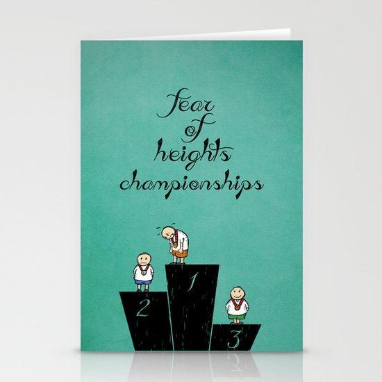 fear of height Stationery Cards