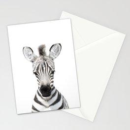 Baby Zebra Portrait Stationery Cards