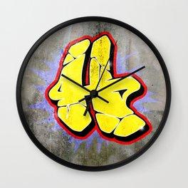 H - Graffiti letter (Wild Style) Wall Clock