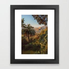 Santiago Chile from San Cristóbal Hill Framed Art Print