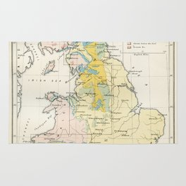 Vintage Map of the Coal Fields of Great Britain Rug