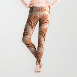 Palm leaves arch pattern - rust, terracotta, clay, desert, boho, ombre Leggings
