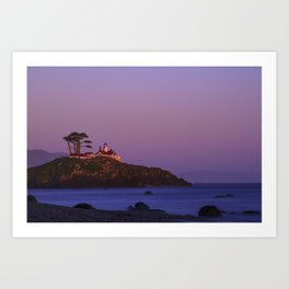 Battery Point Lighthouse at sunset, Crescent City, Del Norte County, California Art Print