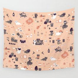 Bad cats Wall Tapestry