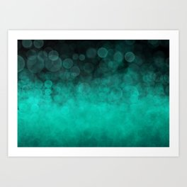 Aqua Cyan Spotted Art Print