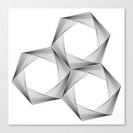 crazy hexagons Canvas Print