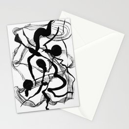 Abstract Black Strokes Stationery Cards