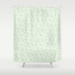 Jellyfish in Green Shower Curtain